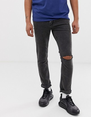 Cheap Monday sonic slim fit jeans in slash black
