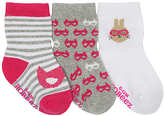 Robeez Fuchsia Masked Hero Three-Pair Socks Set