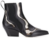 Sergio Rossi PVC insert ankle boots