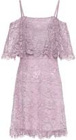 Valentino Cotton-blend lace minidress