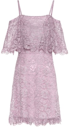 Valentino Cotton-blend lace minidress
