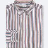Uniqlo Men's Extra Fine Cotton Striped Long-sleeve Shirt