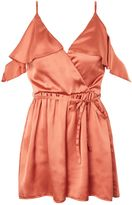 Oh My Love **Satin Playsuit With Frill