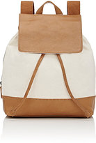 Barneys New York WOMEN'S CANVAS & LEATHER BACKPACK-TAN