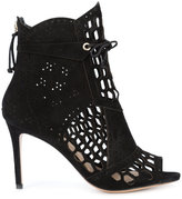 Rachel Zoe embroidered lace-up boots - women - Leather/Suede - 39