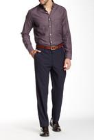 Louis Raphael Brushed Basket Weave Plaid Modern Fit Pant