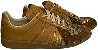 Maison Margiela Replica Camel Leather Trainers