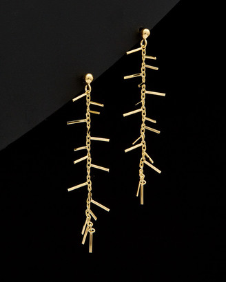 Italian Gold 14K Spike Drop Earrings