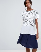 Warehouse Paint Spot Woven Hem Top