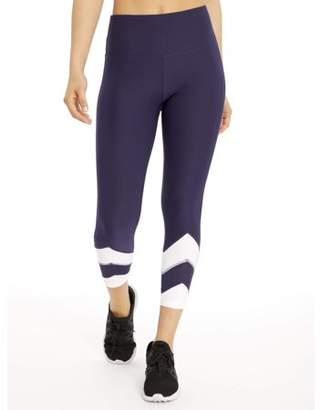 Bally Total Fitness Women's Active Chevron Mid Calf 22'' Legging
