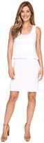 Mod-o-doc Slub Jersey Lace Hem Tank Dress
