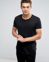Esprit Longline T-Shirt with Raw Edges