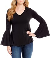 Chelsea & Theodore Bell Sleeve Blouse