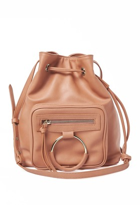 Urban Originals Casual Affair Drawstring Bucket Crossbody Bag