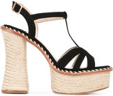 Paloma Barceló platform espadrille sole sandals - women - Leather - 36
