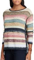 Chaps Petite Striped Cotton Sweater