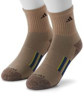 adidas Men's 2-pk. Climalite X Half-Crew Performance Socks