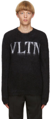 Valentino Black Mohair VLTN Sweater