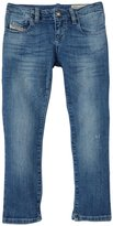Diesel Slim Fit Stretch Distressed Denim (Kid) - Indigo-10