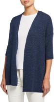 Eileen Fisher Kimono Elbow-Sleeve Open Cardigan