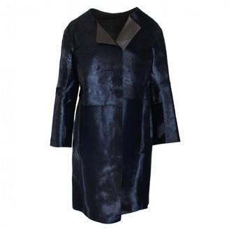 Jil Sander Black Leather Coat for Women
