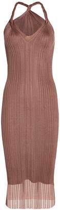 Dion Lee Twist Strap Pleated Dress