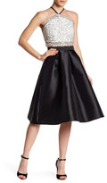 Trixxi Halter Lace Midi Skirt 2-Piece Set