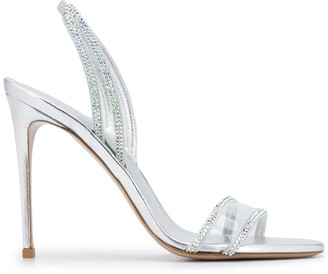 Le Silla Crystal Detailed 110mm Sandals