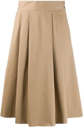 Aspesi pleated A-line skirt