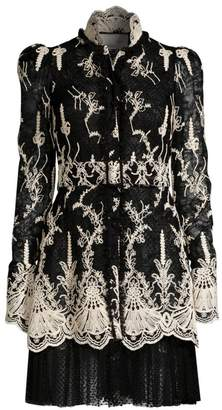 Alexis Hilaria Embroidered Lace Dress
