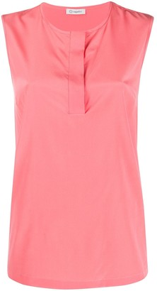 Peserico Sleeveless Silk Tank Top