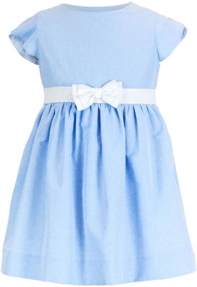 Florence Eiseman Girl's Cap-Sleeve Bow Fit-and-Flare Dress, Size 2-6X