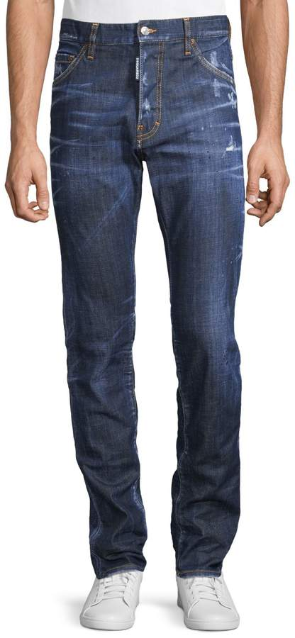 DSQUARED2 Five-Pocket Distressed Jeans