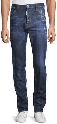 DSQUARED2 Five-Pocket Distressed Jeans
