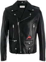 Saint Laurent bird patch biker jacket