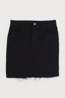 H&M Short Denim Skirt - Black