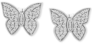 Wrapped in Love Diamond Butterfly Stud Earrings (1/2 ct. t.w.) in 14k White Gold, Created for Macy's