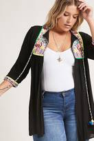 Forever 21 FOREVER 21+ Plus Size Embroidered Tunic