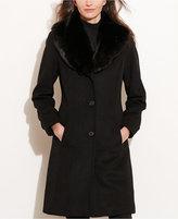 Lauren Ralph Lauren Faux-Fur-Collar Walker Coat, Only at Macy's
