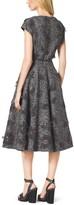 Michael Kors Embroidered Herringbone Wool Dress