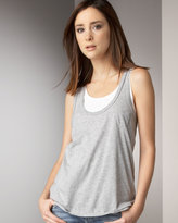 Racer-Back Tank, Heather Gray