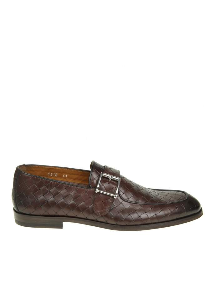 Doucal's Brown Leather Mocassin