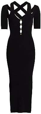 Versace Women's Strappy Cutout Midi Bodycon Dress.