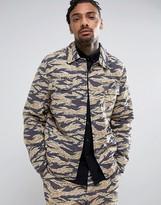Asos Military Coach Jacket In Camo Print