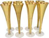 One Kings Lane Vintage 1950s Gilded Champagne Flutes - Set of 8