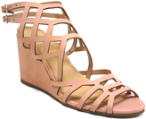 City Classified Pink Behave Wedge Sandal