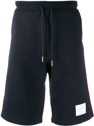 Thom Browne Side-Stripe Track Shorts