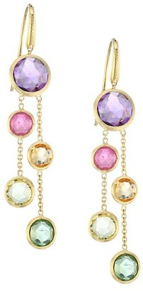 Marco Bicego Jaipur 18K Yellow Gold & Mixed Gemstones Drop Earrings