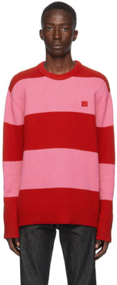Acne Studios Red and Pink Wool Sweater