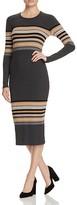 Three Dots Rosita Multi Stripe Sweater Dress